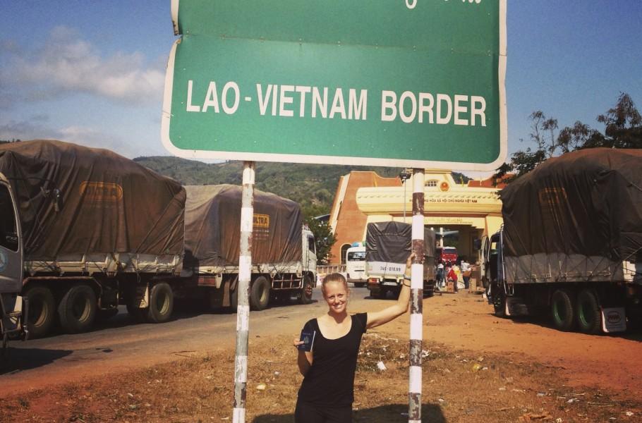 Road Laos to Vietnam