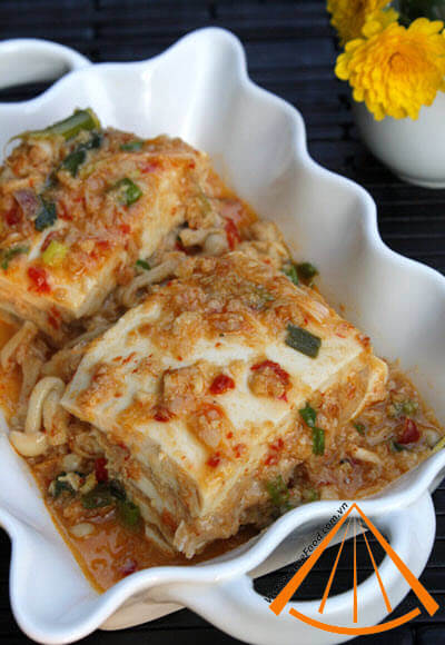 Steamed_Sweet_and_Sour_Fresh_Tofu_with_Minced_Shrimp,_Meat_recipe