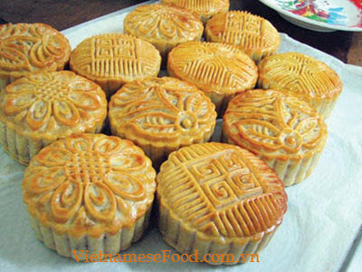Step 12 grilled moon cake banh trung thu nuong 12