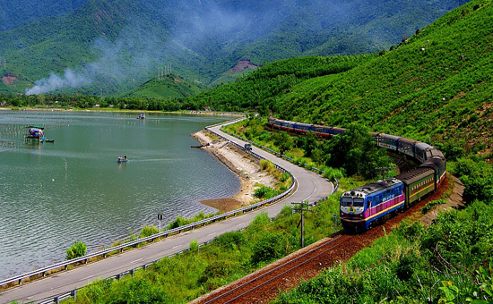 Train trip in Vietnam