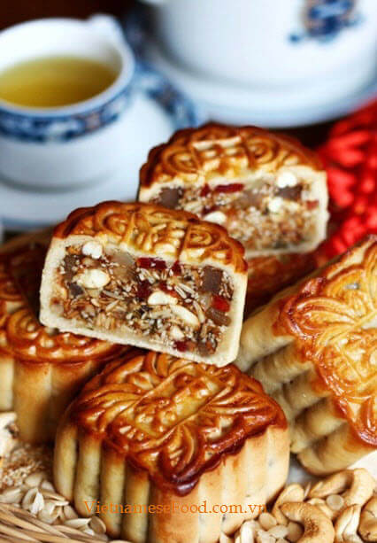 grilled moon cake banh trung thu nuong
