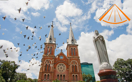 Front of Saigon Notre Dame Basilica